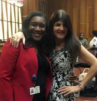 Judge Dawn Denaro with Chiaka Ihekwaba
